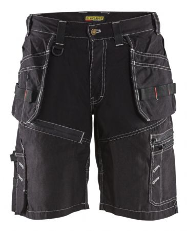 Blaklader 1502 Shorts X1500 100% Cotton Canvas (Black)